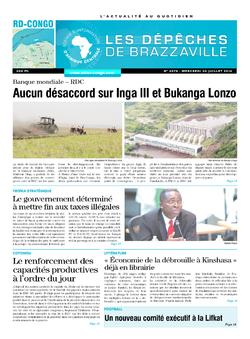 Les Dépêches de Brazzaville : Édition kinshasa du 30 juillet 2014