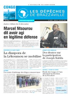Les Dépêches de Brazzaville : Édition brazzaville du 31 juillet 2014
