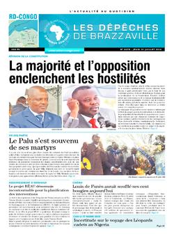 Les Dépêches de Brazzaville : Édition kinshasa du 31 juillet 2014