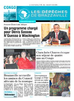 Les Dépêches de Brazzaville : Édition brazzaville du 01 août 2014