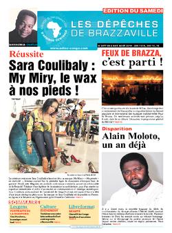Les Dépêches de Brazzaville : Édition du 6e jour du 02 août 2014