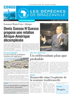 Les Dépêches de Brazzaville : Édition brazzaville du 04 août 2014