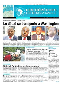 Les Dépêches de Brazzaville : Édition kinshasa du 04 août 2014