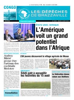Les Dépêches de Brazzaville : Édition brazzaville du 05 août 2014