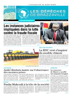 Les Dépêches de Brazzaville : Édition kinshasa du 05 août 2014
