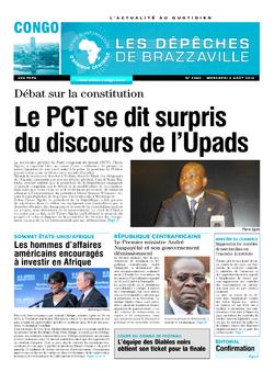 Les Dépêches de Brazzaville : Édition brazzaville du 06 août 2014