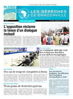 Les Dépêches de Brazzaville : Édition kinshasa du 06 août 2014