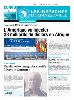 Les Dépêches de Brazzaville : Édition brazzaville du 07 août 2014