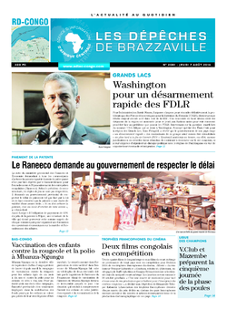 Les Dépêches de Brazzaville : Édition kinshasa du 07 août 2014