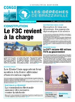 Les Dépêches de Brazzaville : Édition brazzaville du 08 août 2014