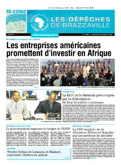 Les Dépêches de Brazzaville : Édition kinshasa du 08 août 2014