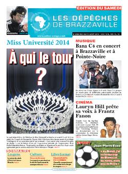 Les Dépêches de Brazzaville : Édition du 6e jour du 09 août 2014