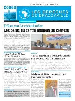 Les Dépêches de Brazzaville : Édition brazzaville du 12 août 2014