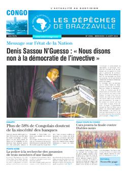 Les Dépêches de Brazzaville : Édition brazzaville du 13 août 2014