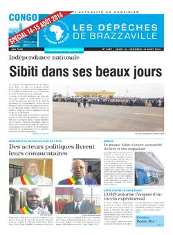 Les Dépêches de Brazzaville : Édition brazzaville du 14 août 2014