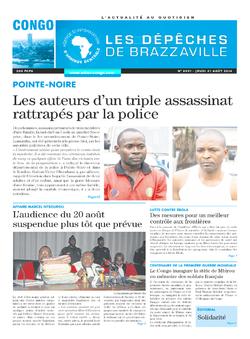 Les Dépêches de Brazzaville : Édition brazzaville du 21 août 2014
