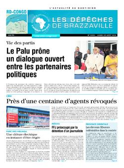 Les Dépêches de Brazzaville : Édition kinshasa du 25 août 2014