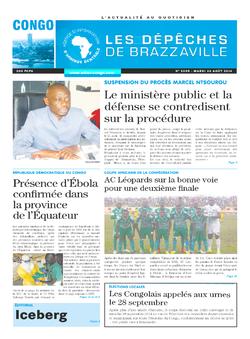 Les Dépêches de Brazzaville : Édition brazzaville du 26 août 2014