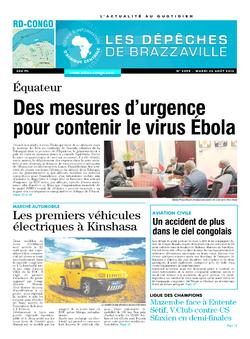 Les Dépêches de Brazzaville : Édition kinshasa du 26 août 2014