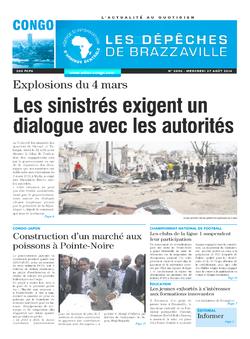 Les Dépêches de Brazzaville : Édition brazzaville du 27 août 2014