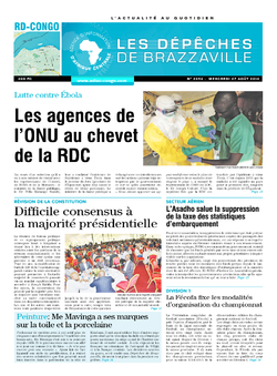 Les Dépêches de Brazzaville : Édition kinshasa du 27 août 2014