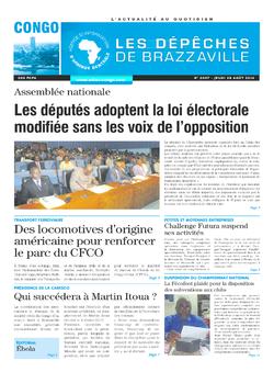 Les Dépêches de Brazzaville : Édition brazzaville du 28 août 2014