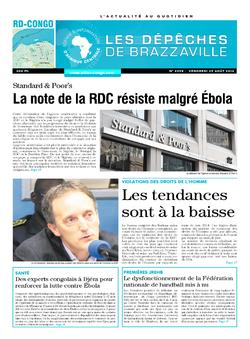 Les Dépêches de Brazzaville : Édition kinshasa du 29 août 2014