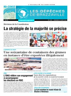 Les Dépêches de Brazzaville : Édition kinshasa du 01 septembre 2014
