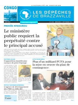 Les Dépêches de Brazzaville : Édition brazzaville du 03 septembre 2014