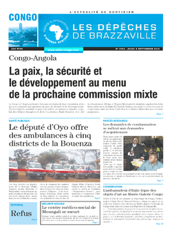 Les Dépêches de Brazzaville : Édition brazzaville du 04 septembre 2014