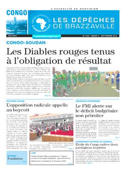 Les Dépêches de Brazzaville : Édition brazzaville du 09 septembre 2014