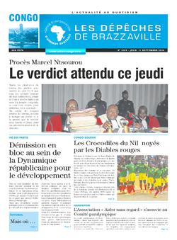 Les Dépêches de Brazzaville : Édition brazzaville du 11 septembre 2014