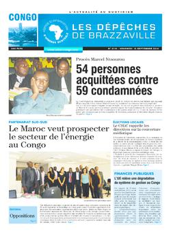 Les Dépêches de Brazzaville : Édition brazzaville du 12 septembre 2014