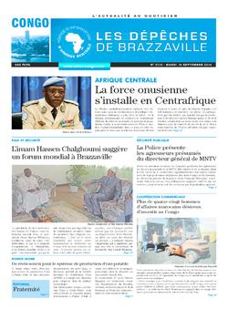 Les Dépêches de Brazzaville : Édition brazzaville du 16 septembre 2014
