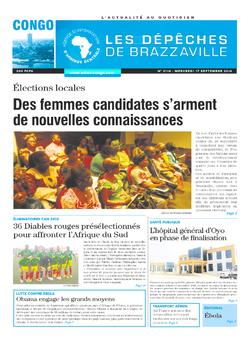 Les Dépêches de Brazzaville : Édition brazzaville du 17 septembre 2014