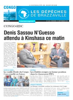 Les Dépêches de Brazzaville : Édition brazzaville du 19 septembre 2014