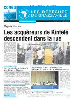 Les Dépêches de Brazzaville : Édition brazzaville du 23 septembre 2014