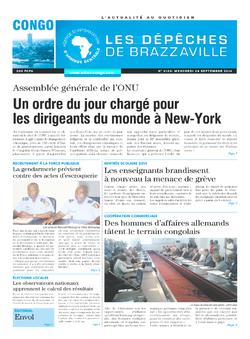 Les Dépêches de Brazzaville : Édition brazzaville du 24 septembre 2014