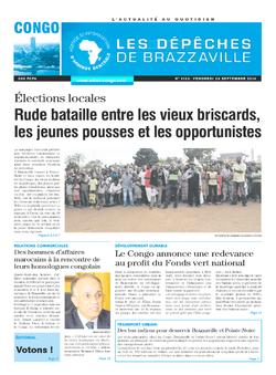 Les Dépêches de Brazzaville : Édition brazzaville du 26 septembre 2014