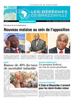 Les Dépêches de Brazzaville : Édition kinshasa du 26 septembre 2014
