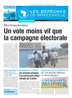 Les Dépêches de Brazzaville : Édition brazzaville du 29 septembre 2014