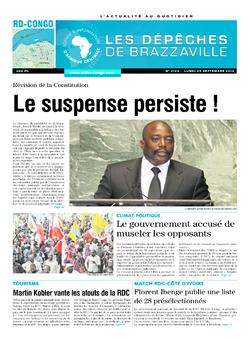 Les Dépêches de Brazzaville : Édition kinshasa du 29 septembre 2014