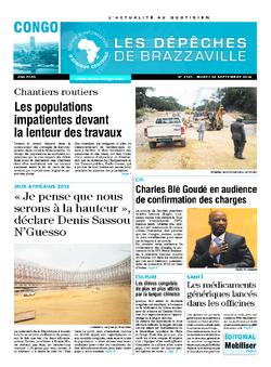 Les Dépêches de Brazzaville : Édition brazzaville du 30 septembre 2014