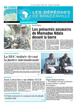 Les Dépêches de Brazzaville : Édition kinshasa du 30 septembre 2014