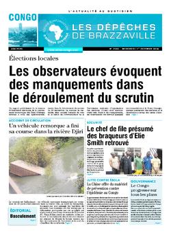 Les Dépêches de Brazzaville : Édition brazzaville du 01 octobre 2014