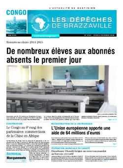 Les Dépêches de Brazzaville : Édition brazzaville du 02 octobre 2014