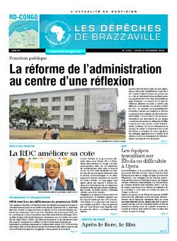 Les Dépêches de Brazzaville : Édition kinshasa du 02 octobre 2014