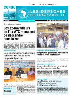 Les Dépêches de Brazzaville : Édition brazzaville du 03 octobre 2014