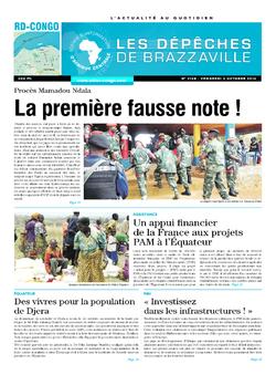 Les Dépêches de Brazzaville : Édition kinshasa du 03 octobre 2014