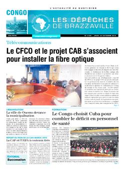 Les Dépêches de Brazzaville : Édition brazzaville du 23 octobre 2014